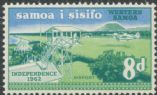 Samoa SG261 8d 'Independence 1962' Airport with Kava Bowl watermark
